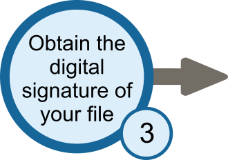 Obtain a digital signature of our file